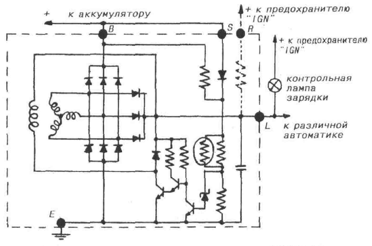 автомобильный генератор принцип работы схема